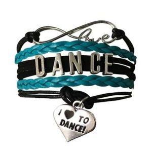 Girls Dance Bracelet - Teal & Black